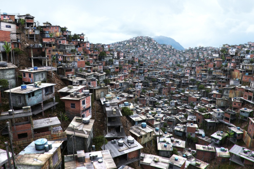 Favela housing in Rio